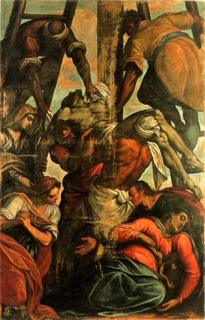 pittore XVII Deposizione di Cristo dalla croce montone in