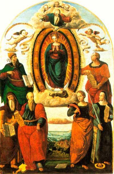vittore cirelli Immacolata profeti e sibille montone in